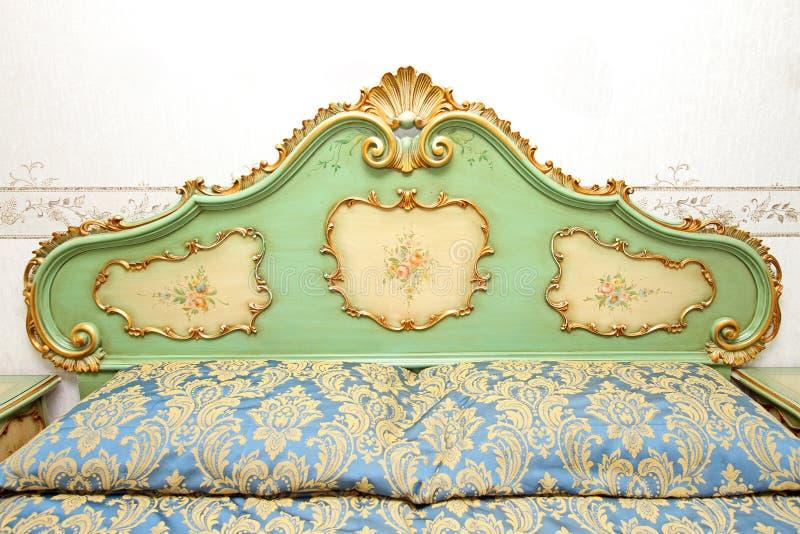 барочная деталь кровати стоковое фото rf