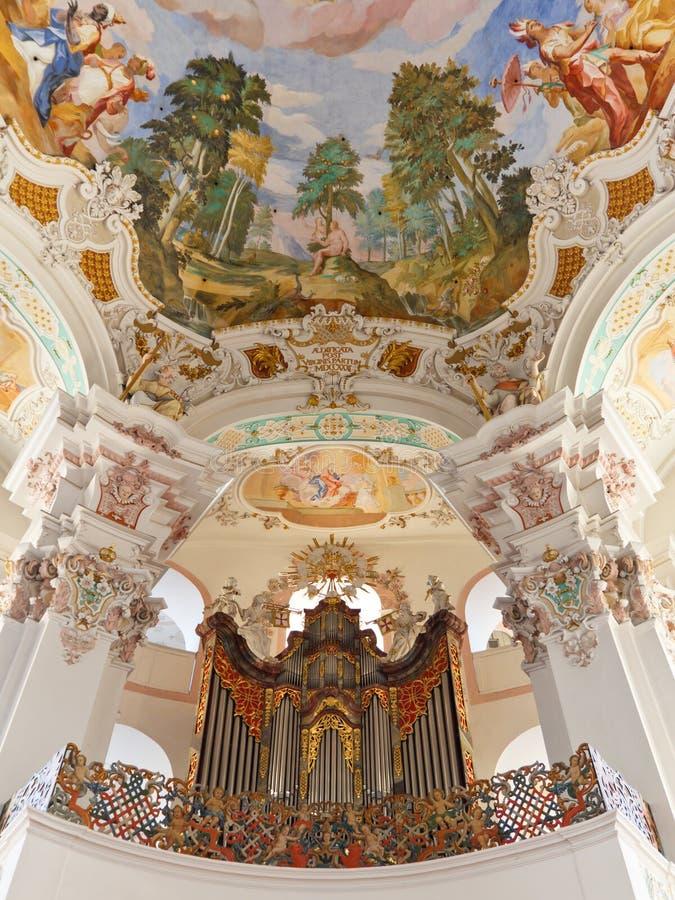 барочная труба органа церков стоковое фото