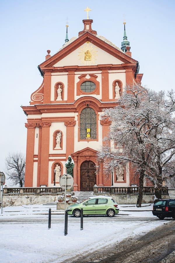 Барочная церковь St Mary, Brandys nad Labem Stara Boleslav стоковая фотография