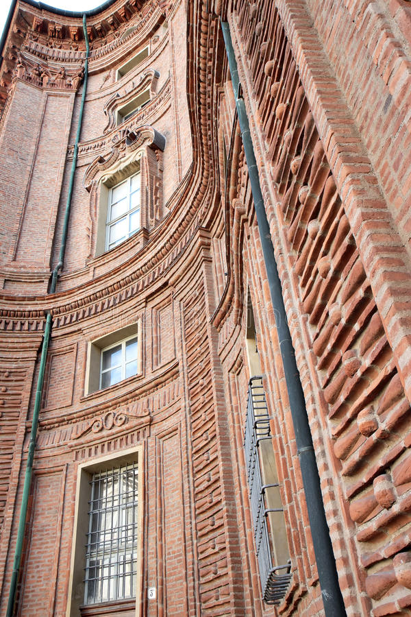 барочное palazzo turin Италии фасада carignano стоковое фото rf