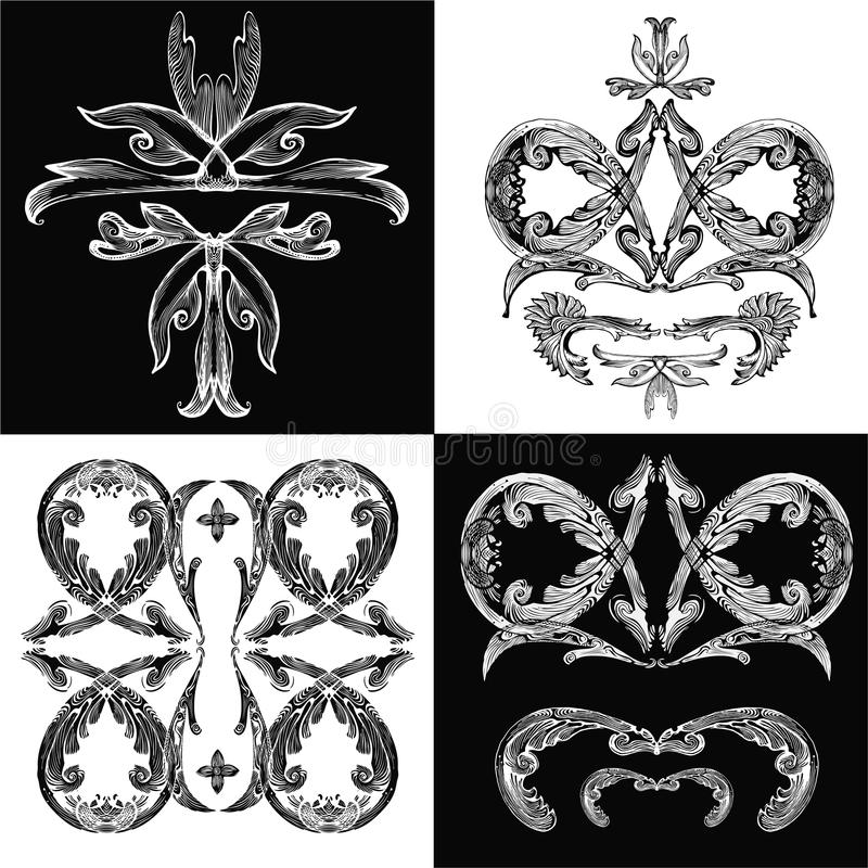 барочное pattern01 иллюстрация штока
