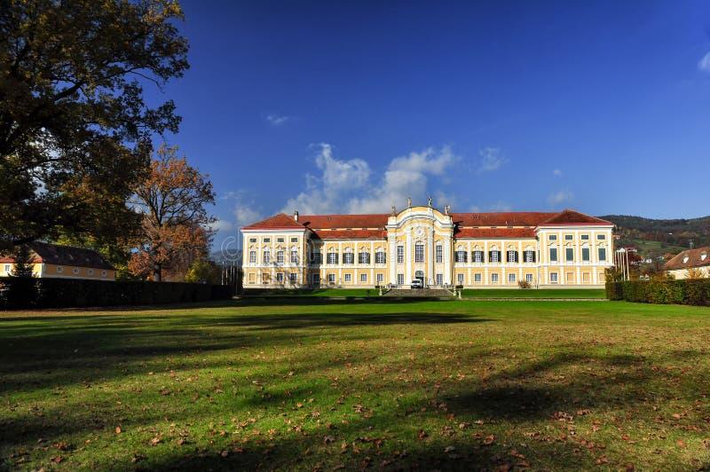 Барочный замок Schielleiten, Штирия, Австрия стоковая фотография rf