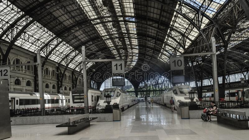 Барселона, здание вокзала Франции одно из самого красивого во всей из Барселоны стоковое фото rf