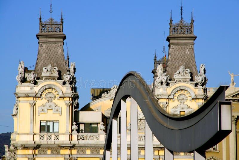 Барселона, Каталония, Испания - Rambla Del Mar от ` Espanya Moll d стоковые фото