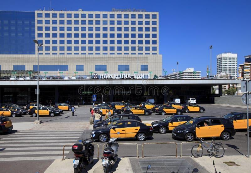 Барселона Sants - вокзал стоковое фото