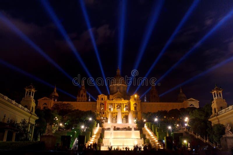 Барселона, Испания - национальный музей изобразительных искусств Catalunya в Площади de Espana стоковое фото rf