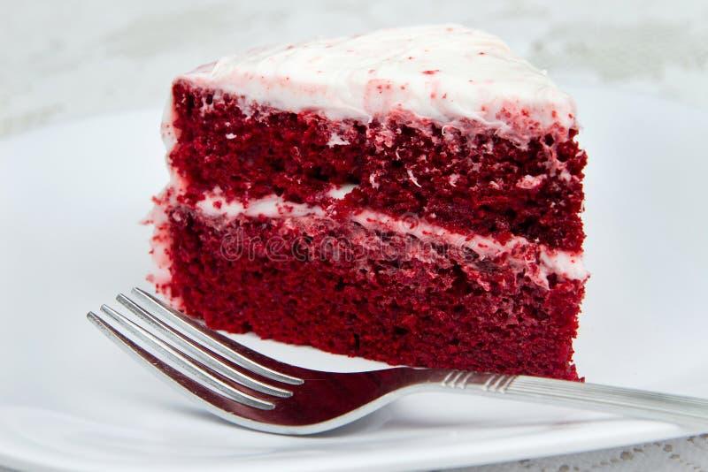 бархат красного цвета торта стоковая фотография
