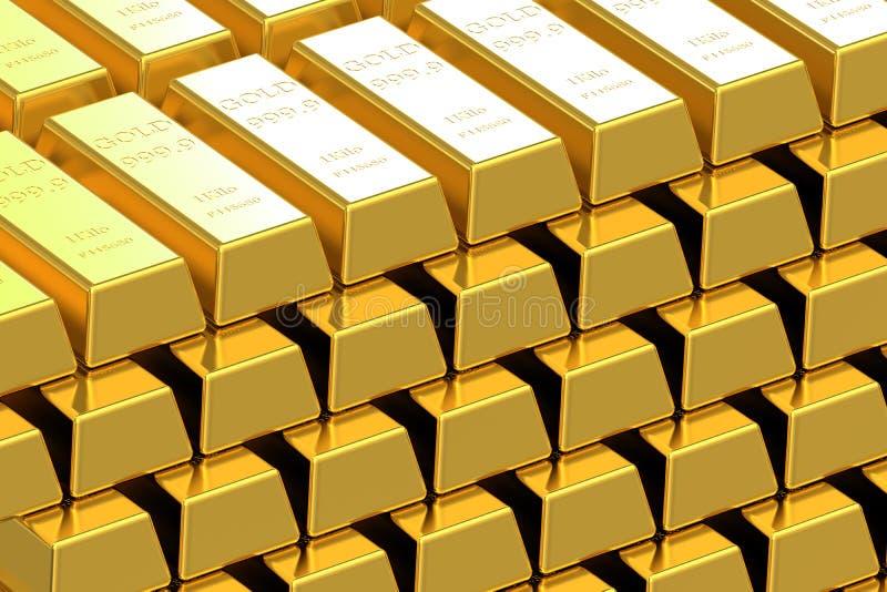Бары поставки золота иллюстрация вектора