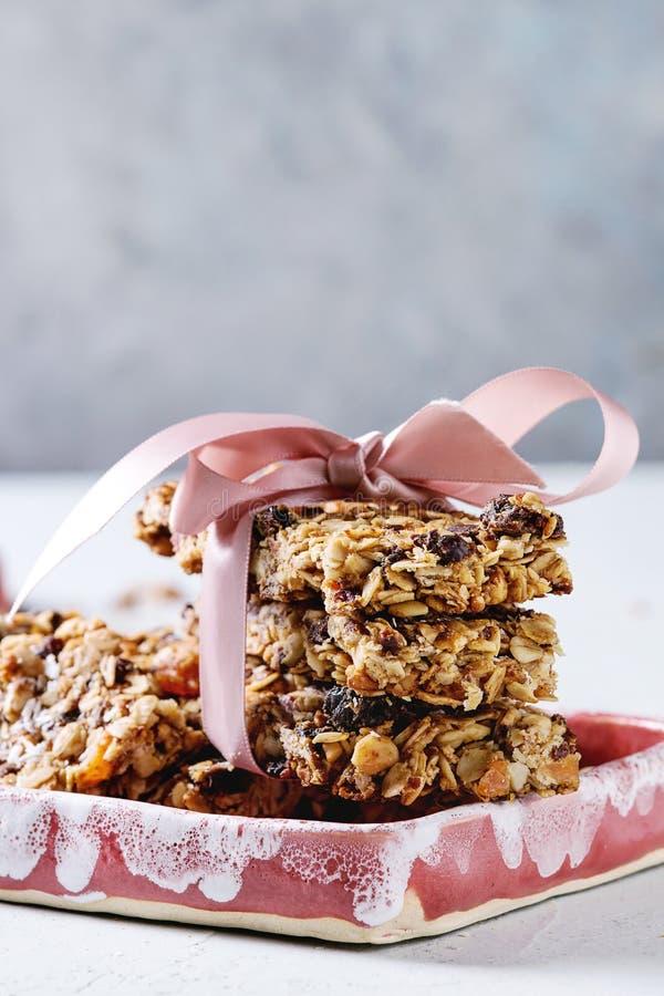 Бары granola энергии стоковая фотография rf