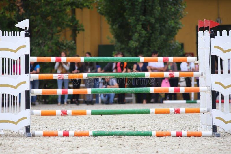 Барьеры препятствий Equitation стоковая фотография rf