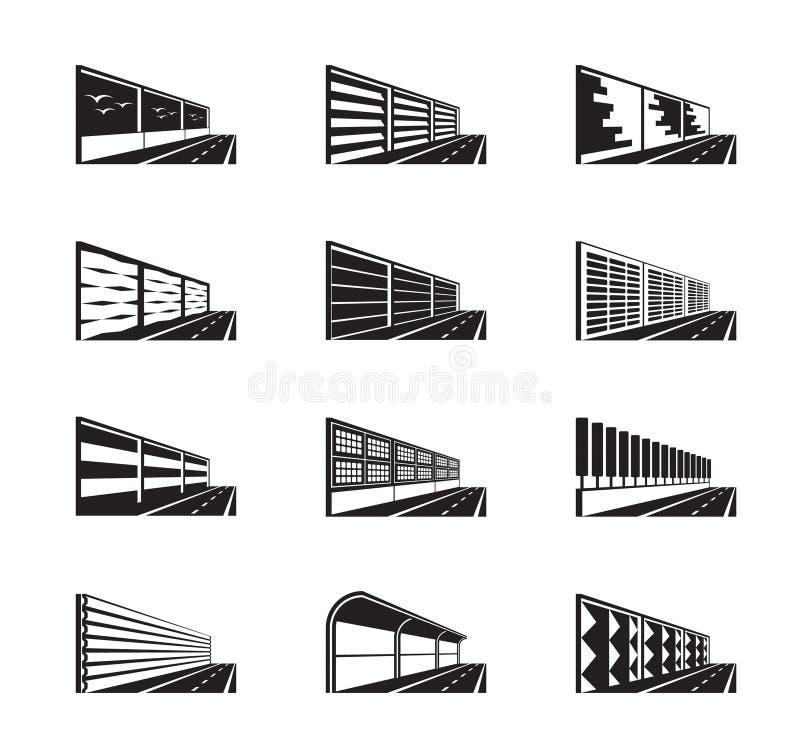 Барьеры шума на шоссе бесплатная иллюстрация