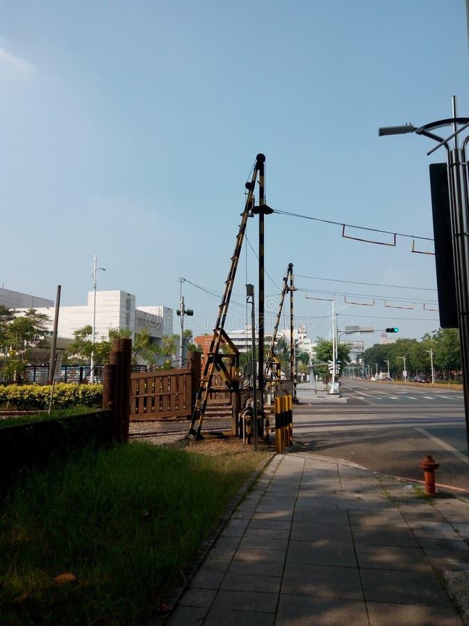 Барьер заграждения железной дороги леса Alishan стоковые фото