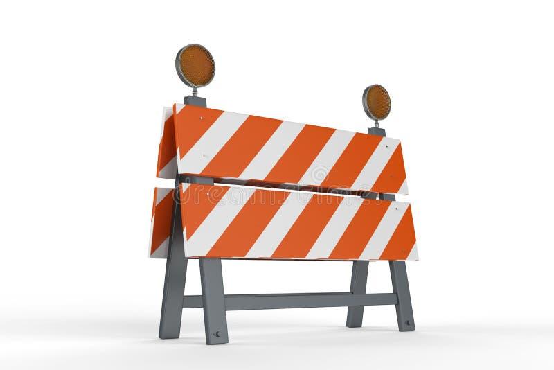 Барьер или дорожный блок конструкции иллюстрация вектора