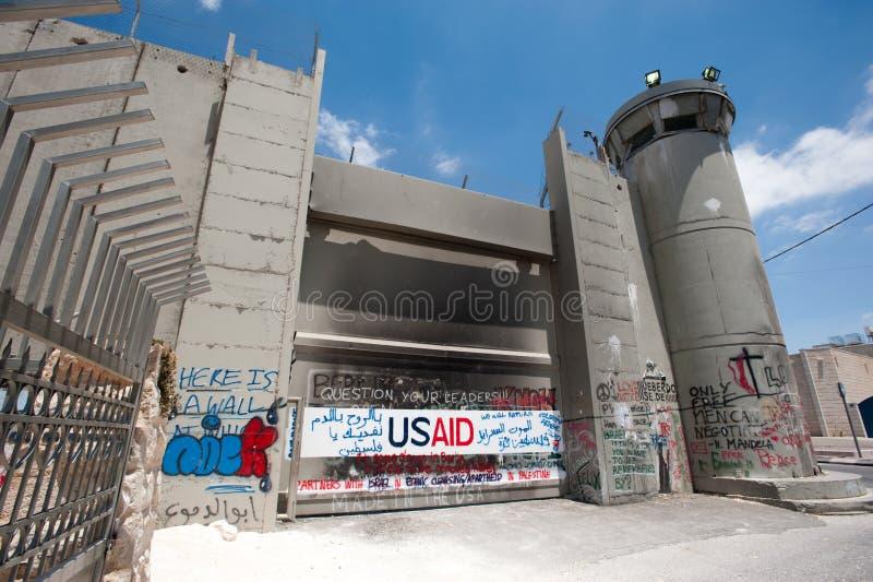 барьер разветвляет израильское прованское разъединение стоковые фото