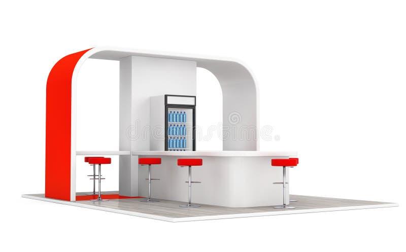 Бар, кафе, столовая, концепция интерьера фаст-фуда перевод 3d иллюстрация вектора