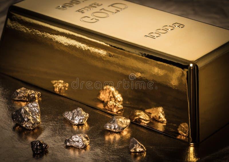 Бар конца-вверх золота стоковые изображения