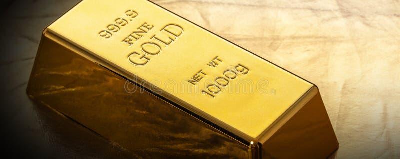 Бар конца-вверх золота стоковое фото