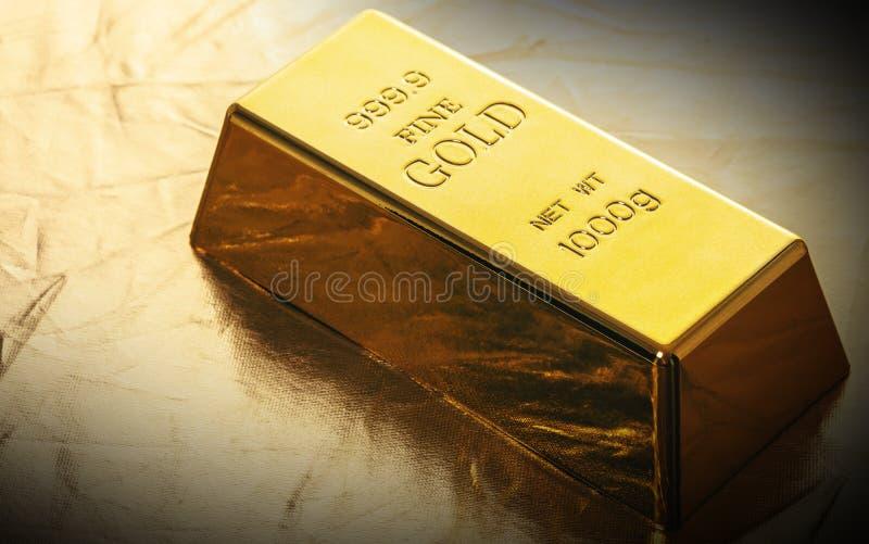Бар конца-вверх золота стоковая фотография