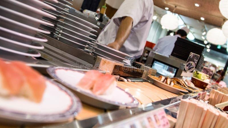 Бар суш в Японии стоковое изображение rf