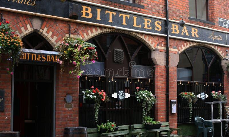 Бар Bittles центра города Белфаста стоковые фото