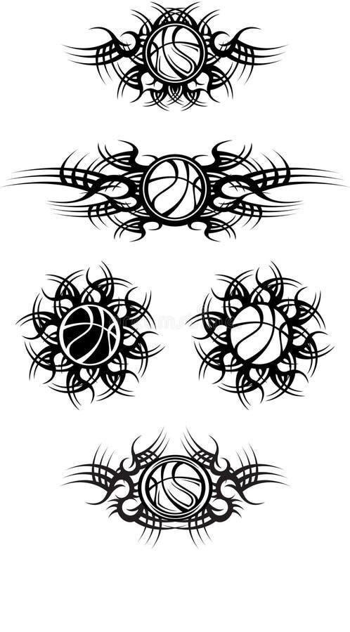 баскетболы соплеменные бесплатная иллюстрация