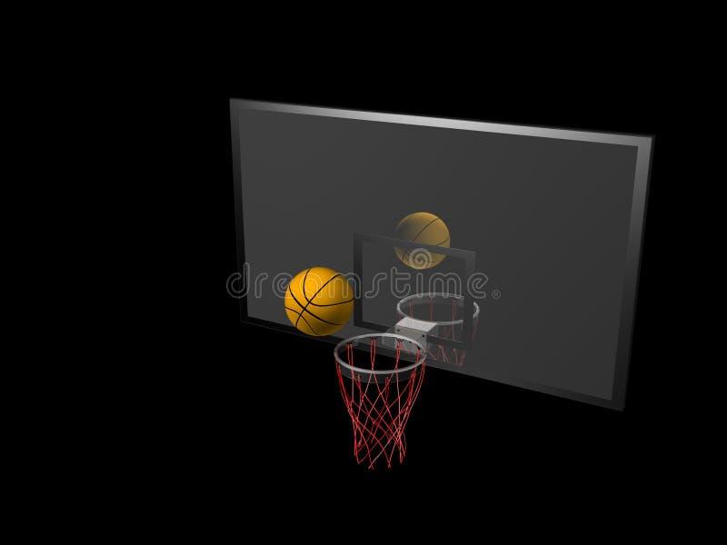 баскетбол бакборта иллюстрация вектора