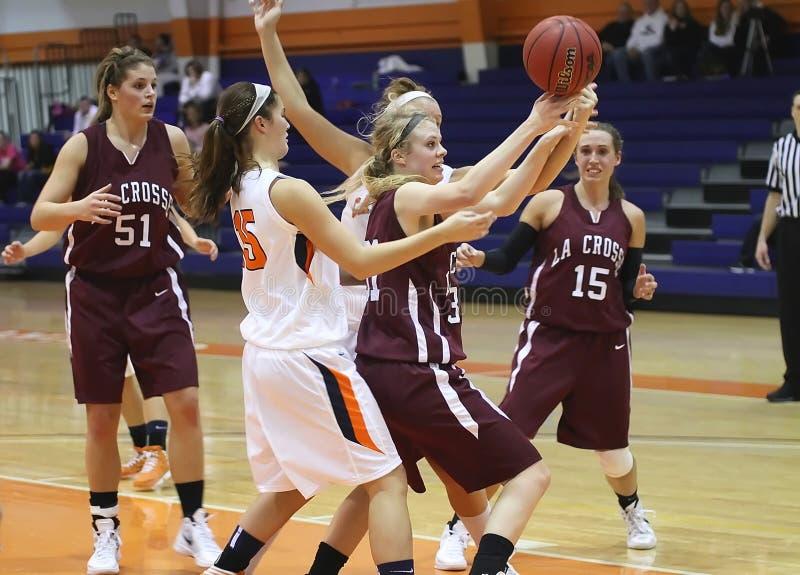 Баскетбол девушок NCAA стоковые изображения
