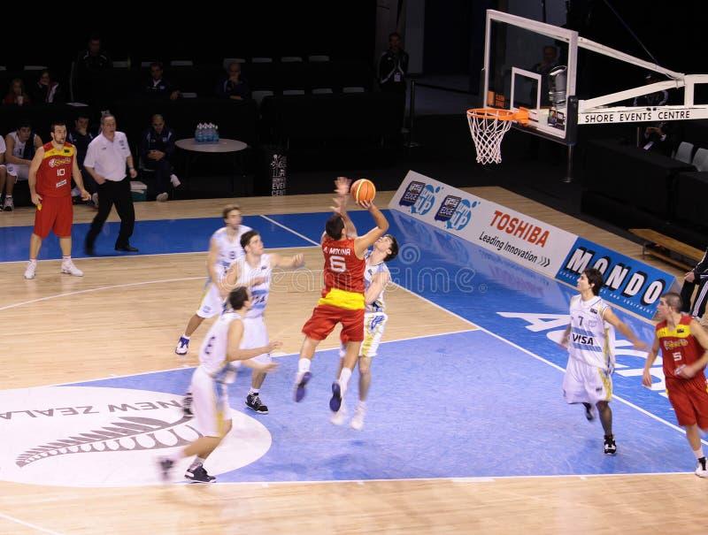 баскетбол Испания Аргентины стоковое изображение rf