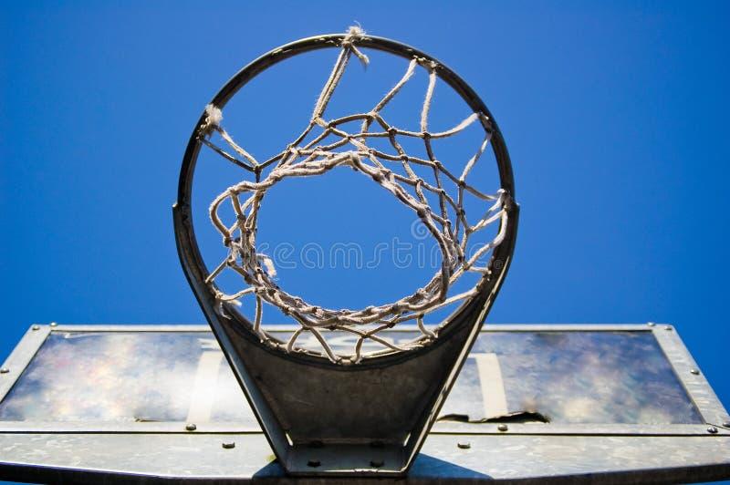 баскетбол под обручем стоковое фото rf