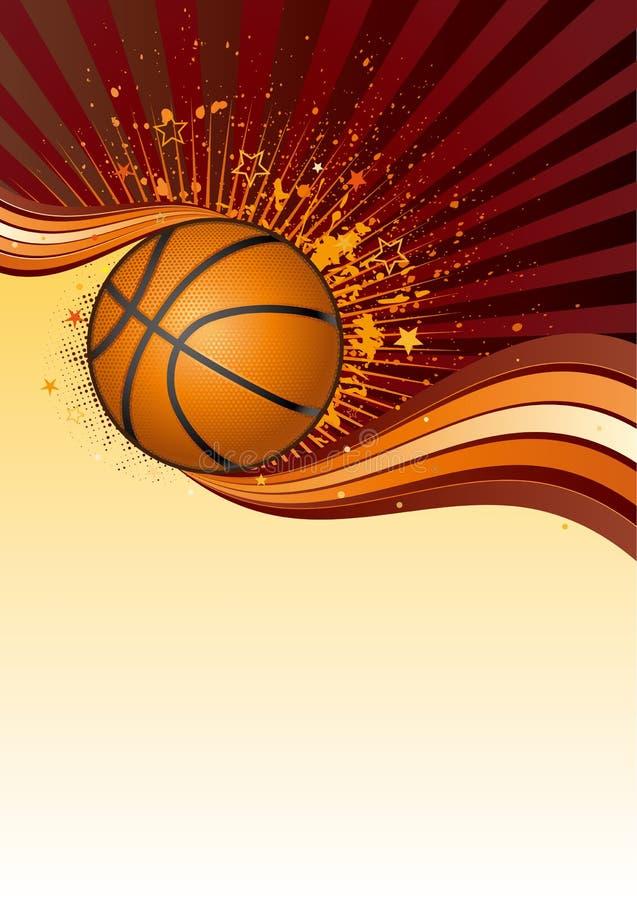 баскетбол предпосылки иллюстрация вектора