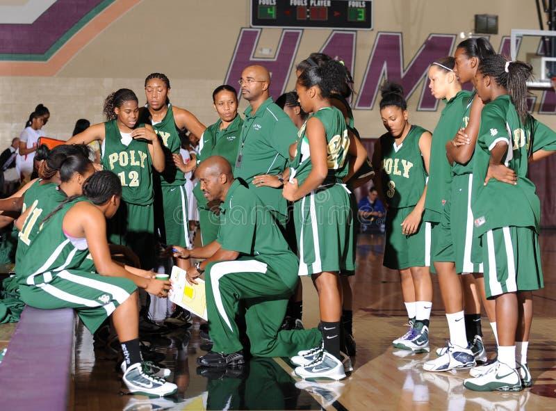 Баскетбол средней школы девушек стоковая фотография rf