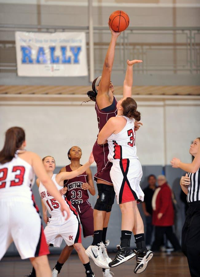 Баскетбол средней школы девушок стоковые фотографии rf