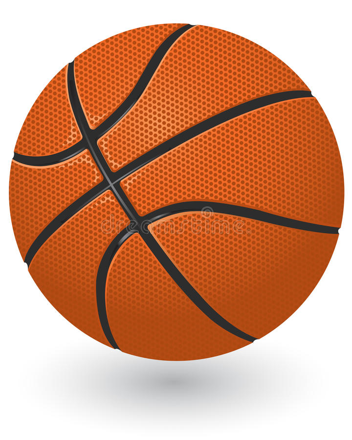 баскетбол шарика иллюстрация вектора