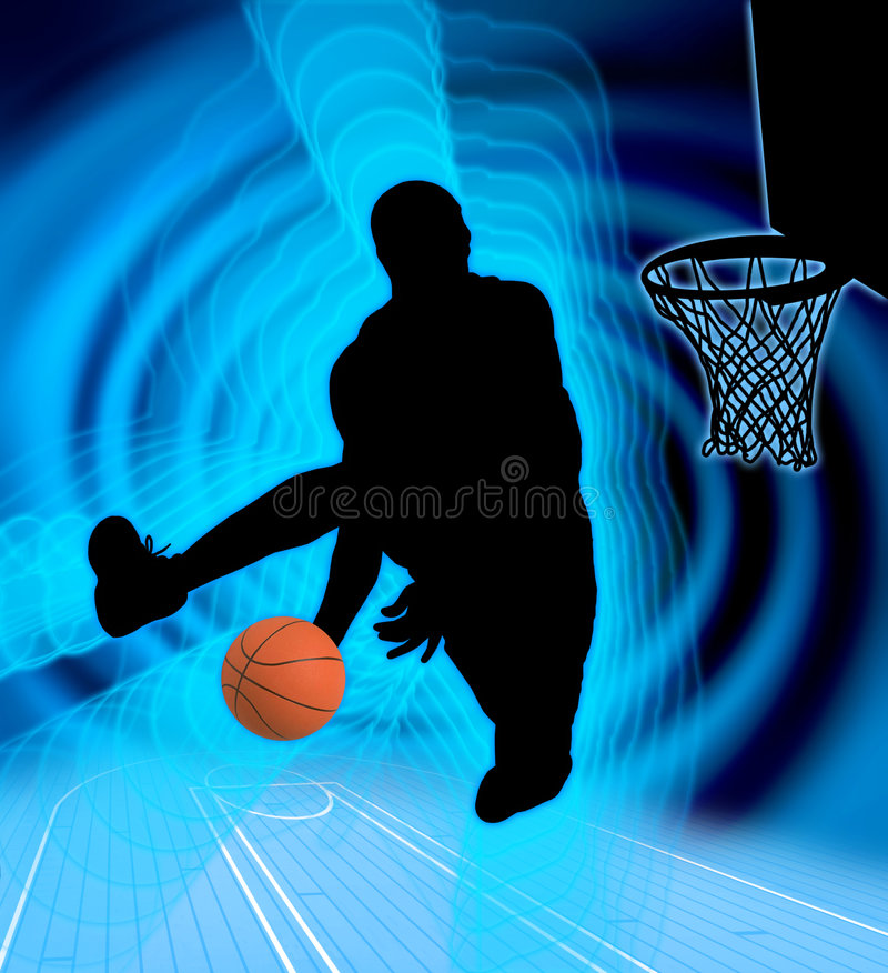 баскетбол 4 искусств иллюстрация вектора