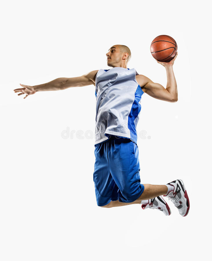 Баскетболист в действии стоковое фото rf