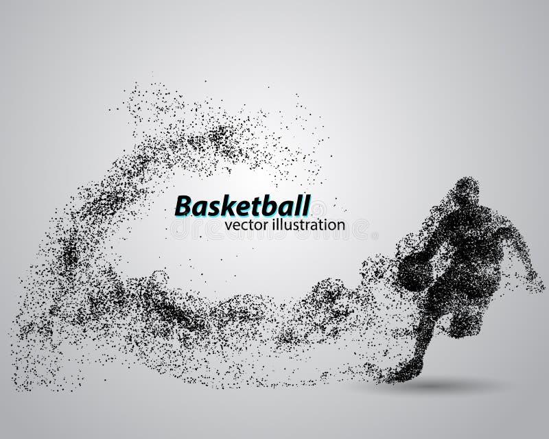 Баскетболист от частиц бесплатная иллюстрация