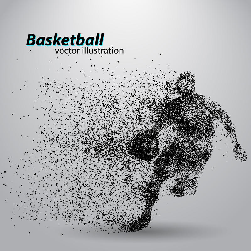 Баскетболист от частиц иллюстрация вектора