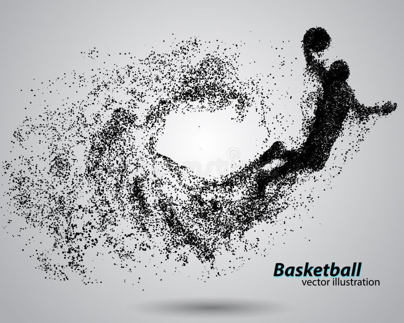 Баскетболист от частиц иллюстрация штока