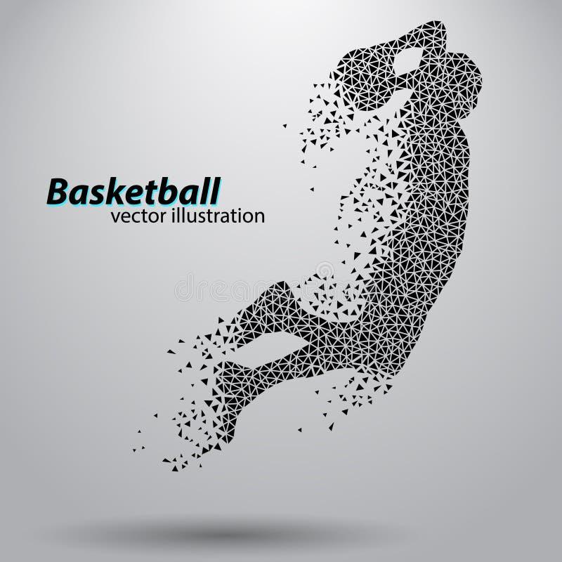 Баскетболист треугольников иллюстрация вектора