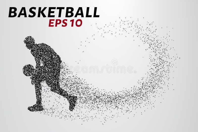 Баскетболист частиц иллюстрация штока
