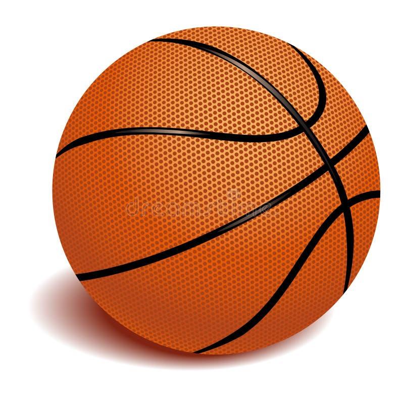 Баскетбол на белом векторе иллюстрация вектора