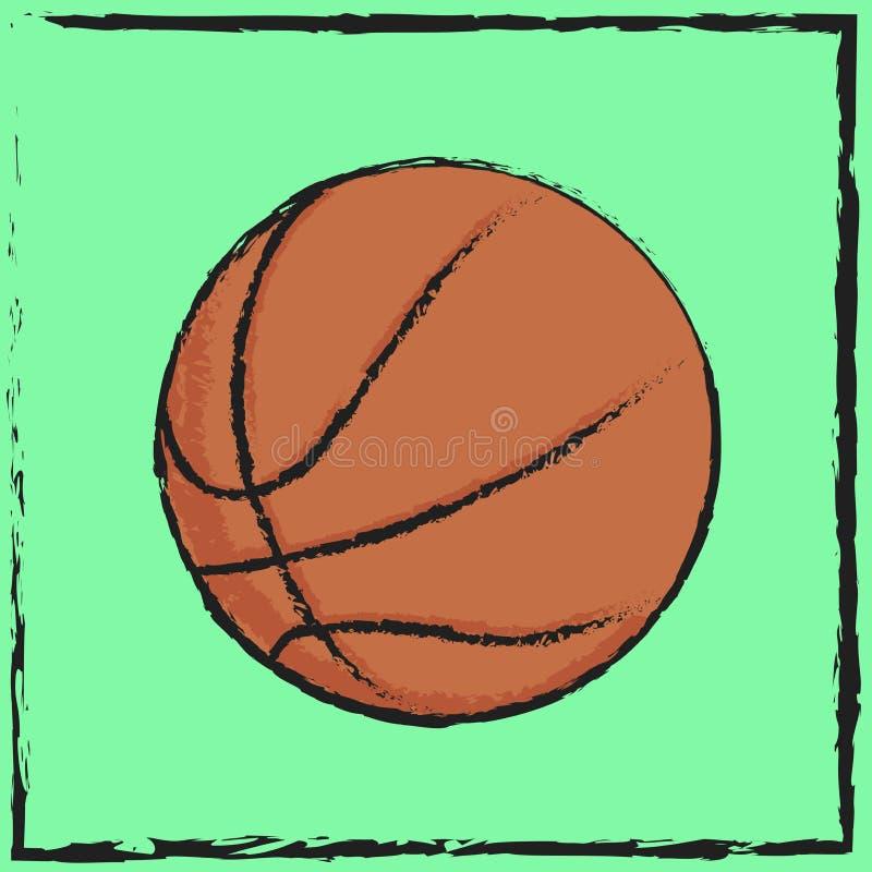 Баскетбол символа стоковое изображение rf