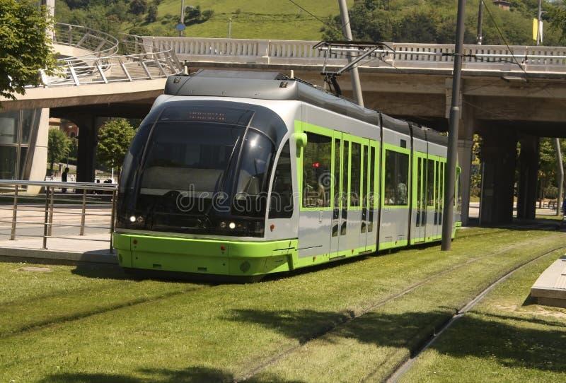 баскский трам Испании euskadi страны bilbao стоковое фото