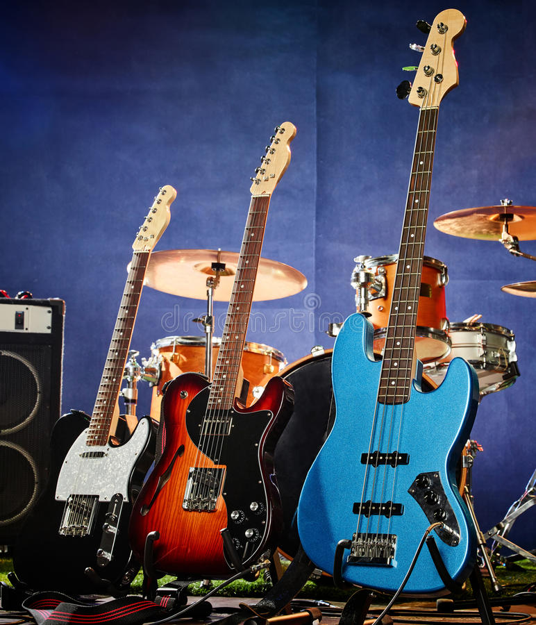 Басовая гитара, ритм, руководство стоковая фотография rf