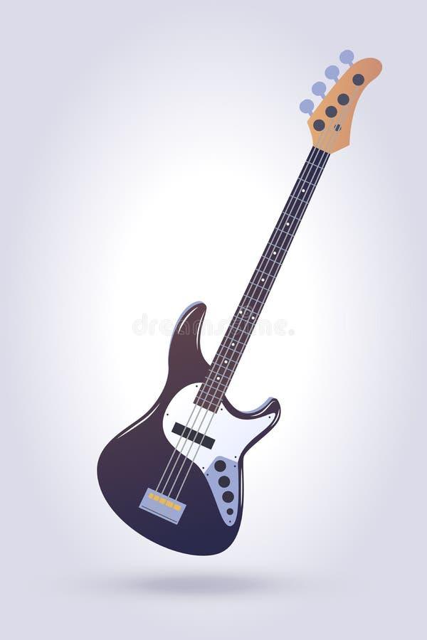 басовая электрическая гитара иллюстрация штока