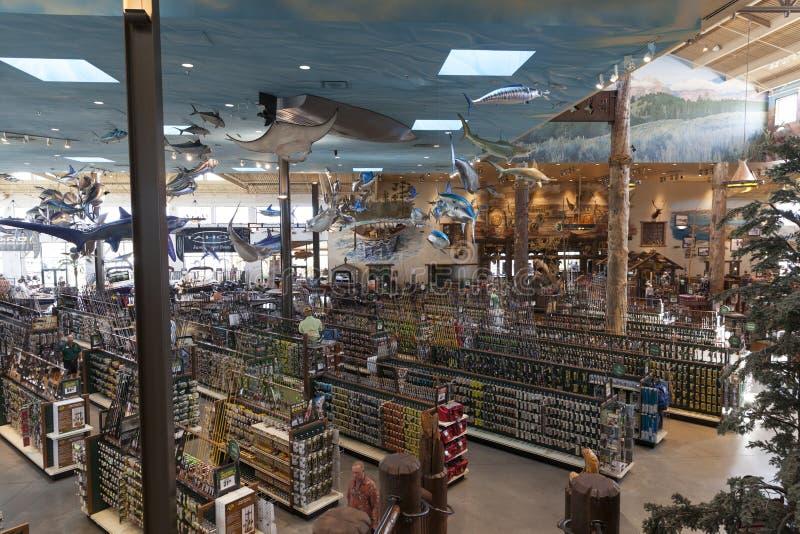 Басовый Pro магазин, напольный мир на гостинице Silverton в Лас-Вегас стоковые фотографии rf