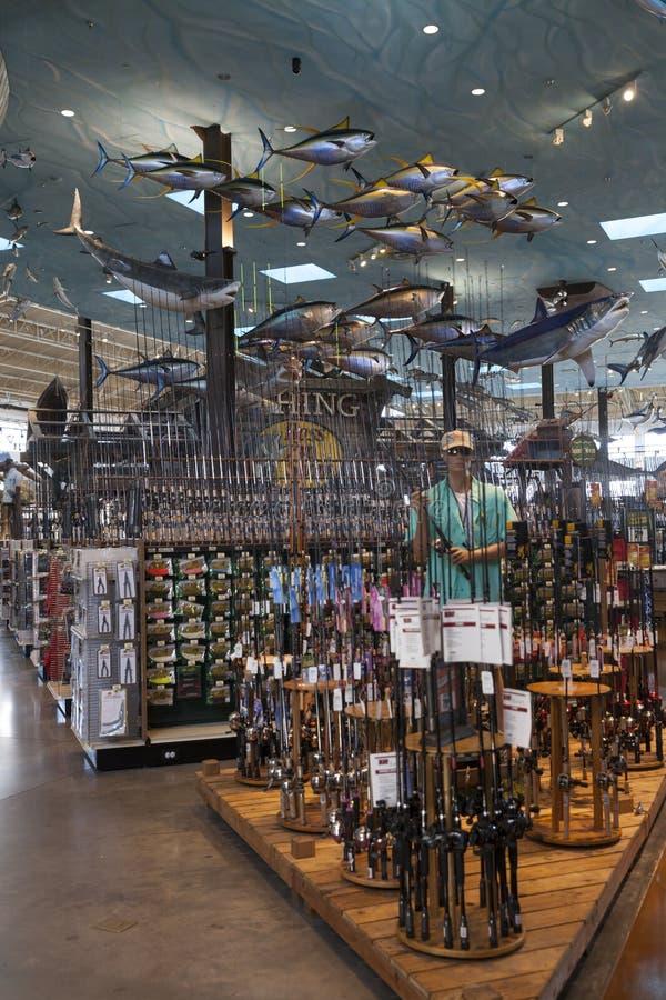 Басовый Pro рыбопромысловый район магазина на гостинице Silverton в Лас-Вегас, стоковое фото