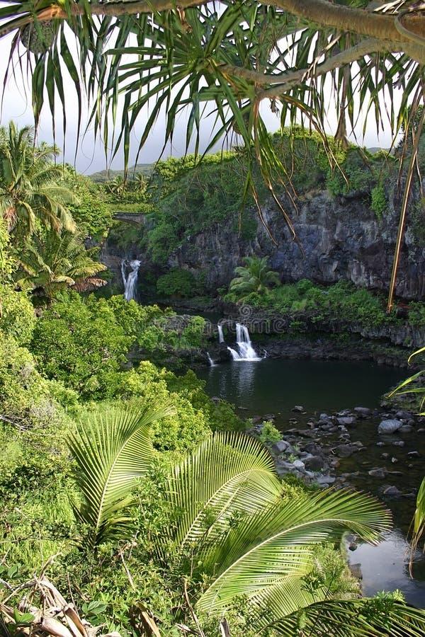 бассеины священнейшие 7 maui острова Гавайских островов стоковая фотография