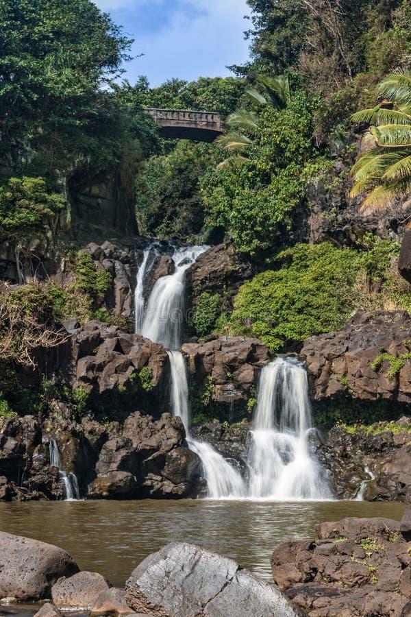 бассеины священнейшие 7 maui стоковое фото