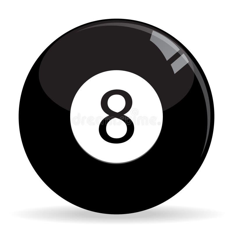 бассеин биллиардов шарика 8ball иллюстрация штока
